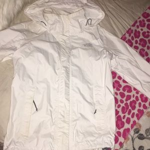 White North Face windbreaker